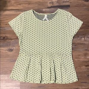 KRISTIN MILES Peplum Fit and Flare top